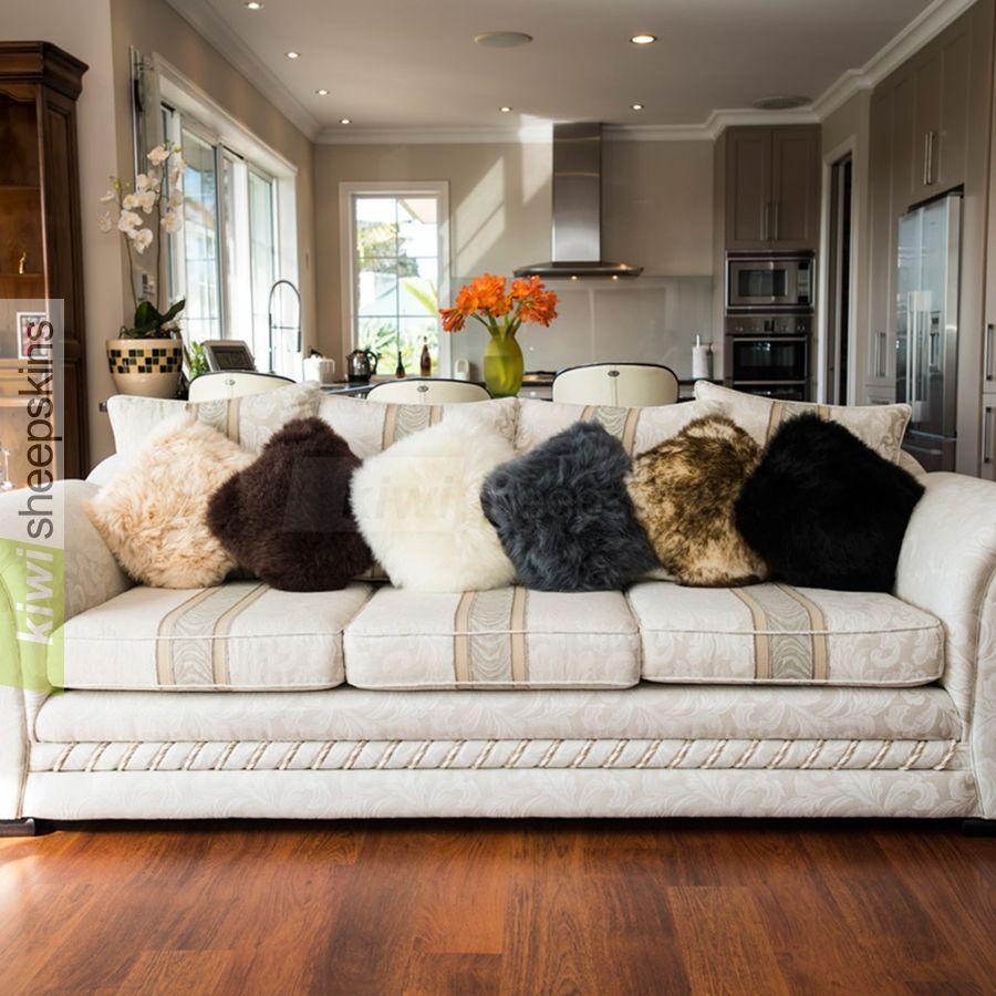 Sheepskin pillow cushion cover 35cm