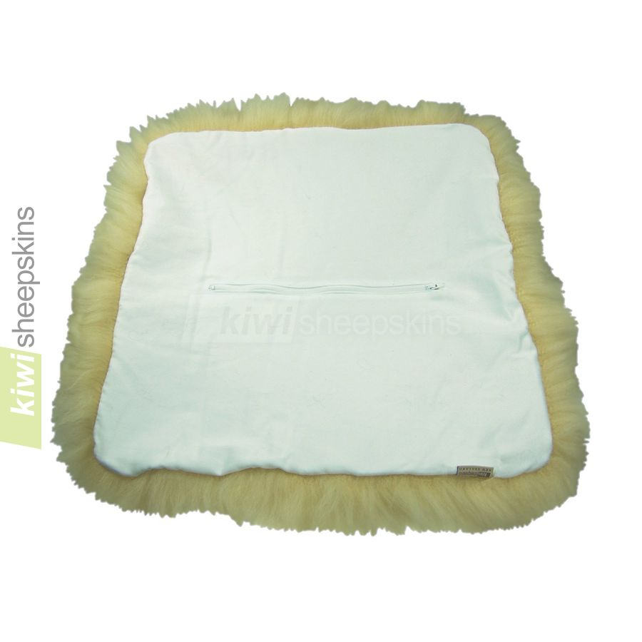 White fabric reverse with zipper