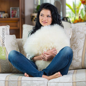 Large sheepskin pillows