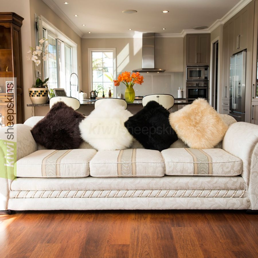 Large sheepskin pillows / cushion covers