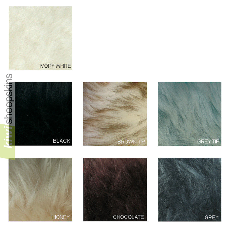 Long wool sheepskin colors