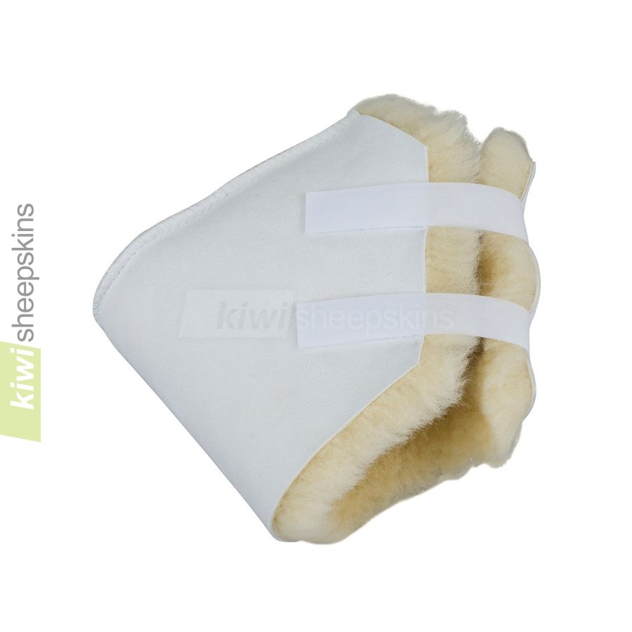 Sheepskin heel pad / elbow pad - close up view