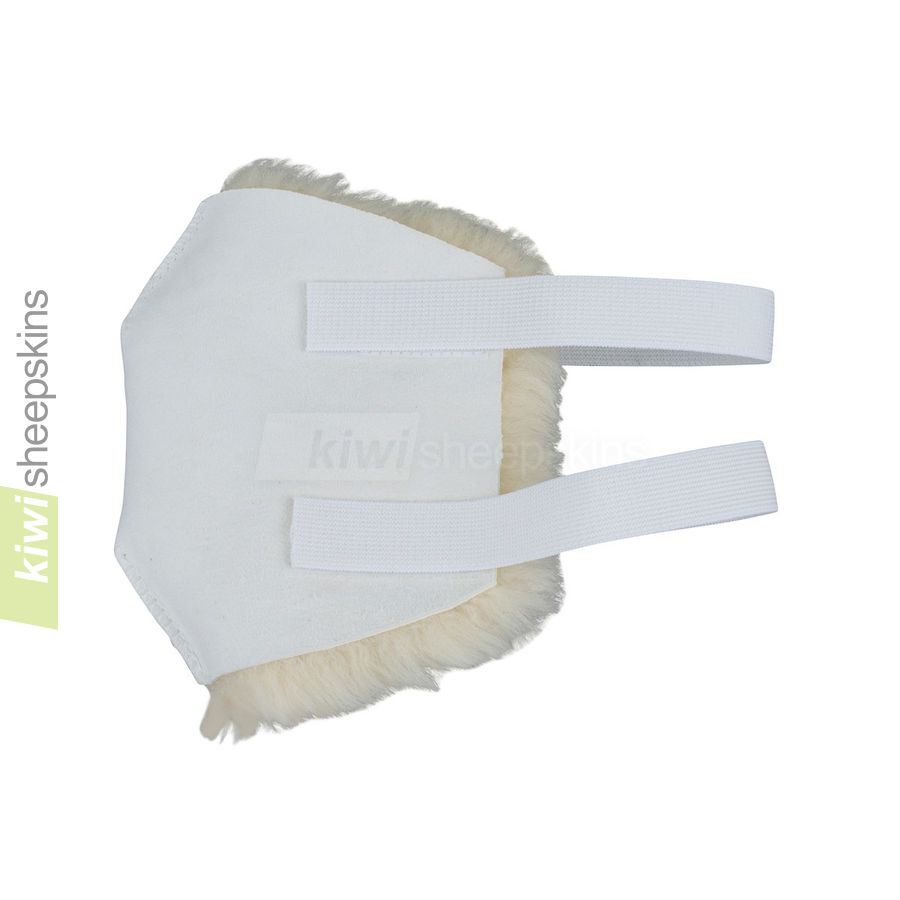 Sheepskin knee pads - close up view