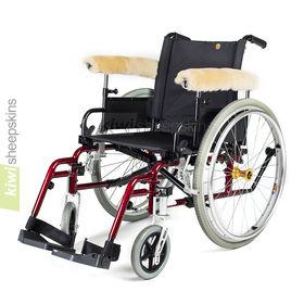Sheepskin wheelchair arm cover