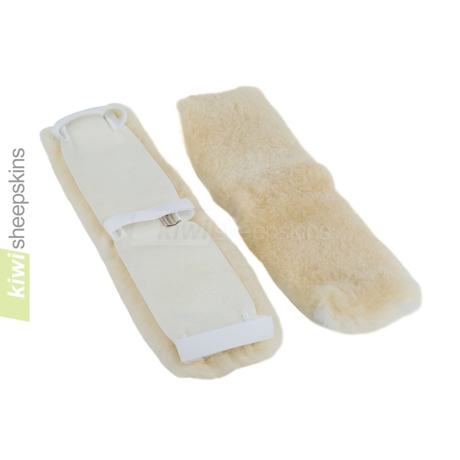 Sheepskin wheelchair arm or leg cover - close up