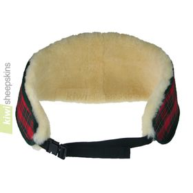 Sheepskin back warmer belt