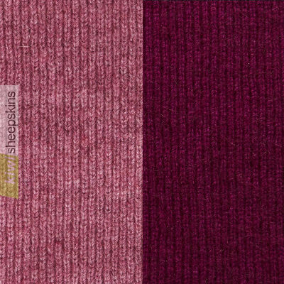 Possum Merino Two Toned Reversible Beanie: Heather/Berry