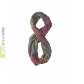 Possum Merino Snood: Mint/Heather/Mocha