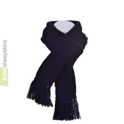 Possum Merino Scarf: Black