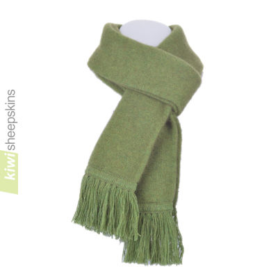 Possum Merino Scarf: Lime