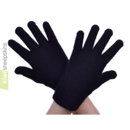 Possum Merino Glove: S, Black
