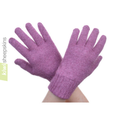Possum Merino Glove: S, Heather