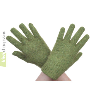 Possum Merino Glove: S, Lime