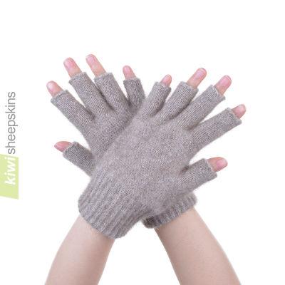 Possum Merino Open Finger Glove: S, Mocha