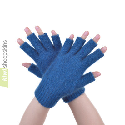 Possum Merino Open Finger Glove: S, Teal