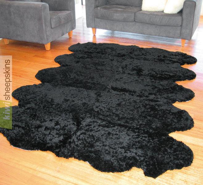 Bowron Short Wool Curly Rug Real