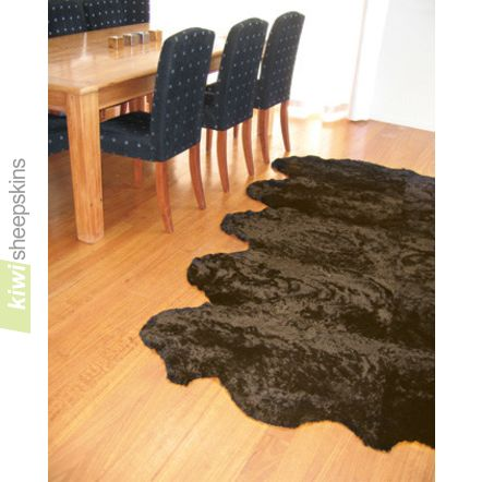 Bowron Zealamb short wool sheepskin rug - Chocolate color