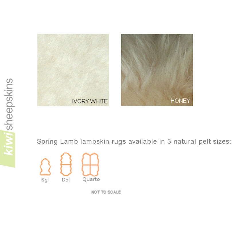 Lambskin rug colors and pelt sizes