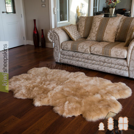 Spring Lamb lambskin rug - 4-pelt Quarto - Honey color