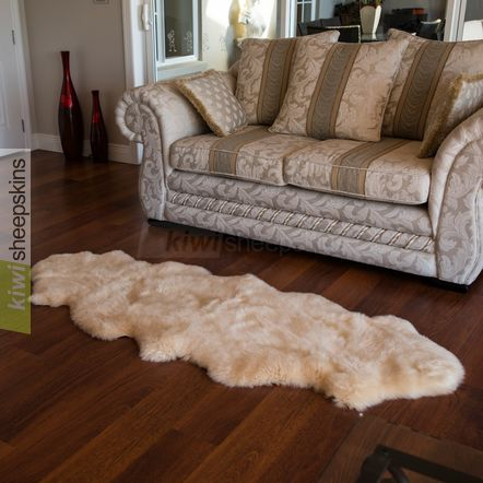 Spring Lamb lambskin rug - 2-pelt Double - Honey color