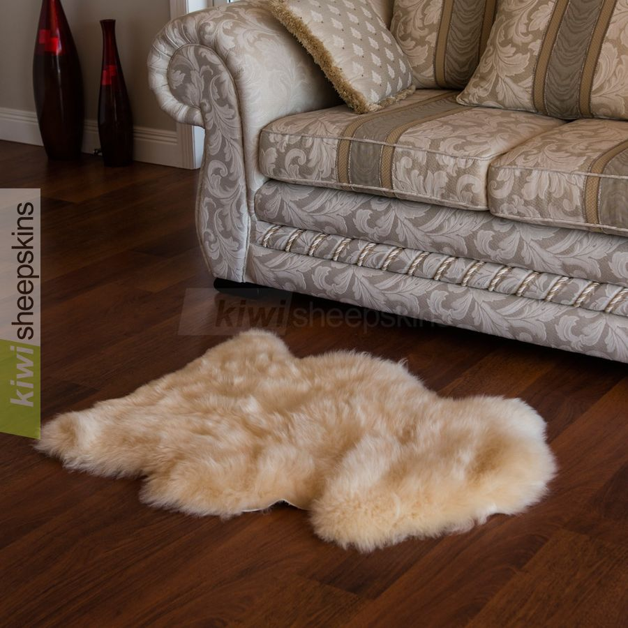 Spring Lamb lambskin rug - Single pelt - Honey color