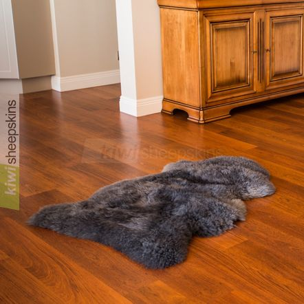 Single XL sheepskin rug - Grey color
