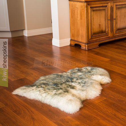 Single XL sheepskin rug - Grey Tip color