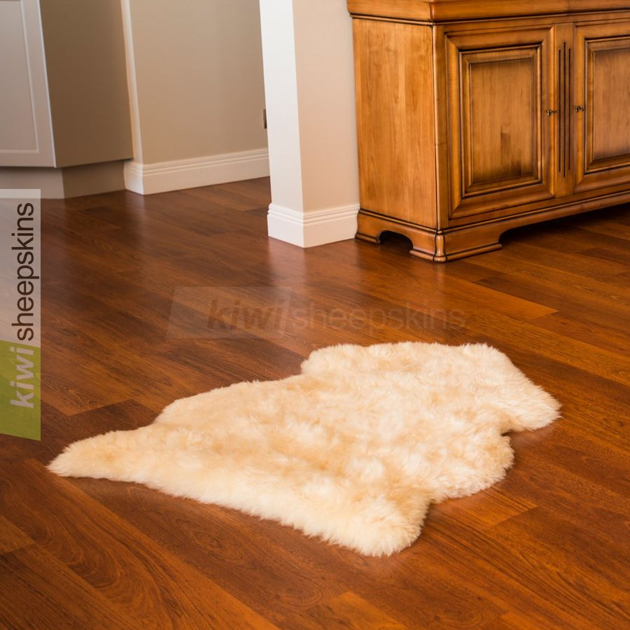 Single XL sheepskin rug - Honey color