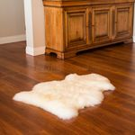 Extra large single pelt sheepskin rug