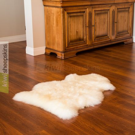 Single pelt sheepskin rug XL - natural Ivory White color