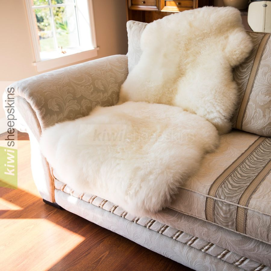 15 pelt sheepskin rug natural ivory white