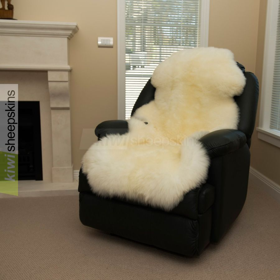 1.5 pelt sheepskin rug - natural Ivory White