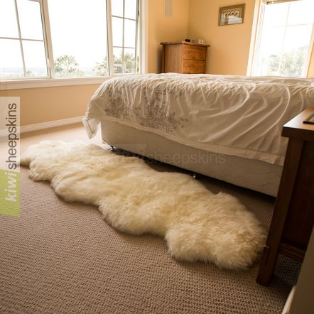 Double Sheepskin Rug 2 Pelts End To