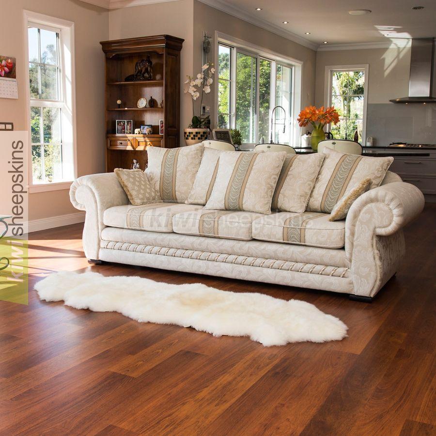 Double sheepskin rug