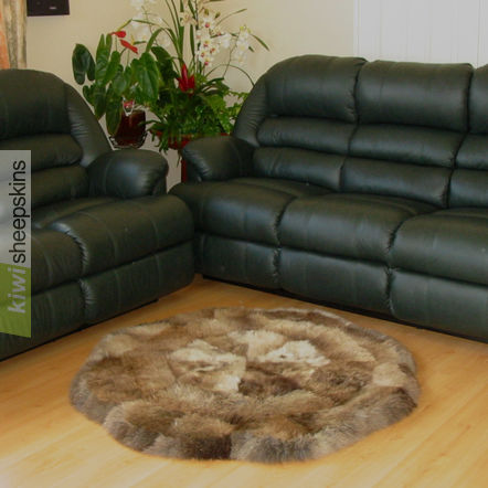 Natural black sheepskins - no dyes used so each one unique