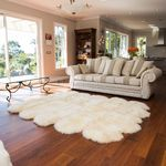 Large sheepskin rug - 10 pelt