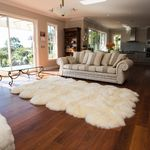12-piece natural pelt shaped sheepskin rug
