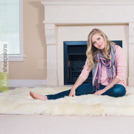 Long wool sheepskin rugs - so silky soft