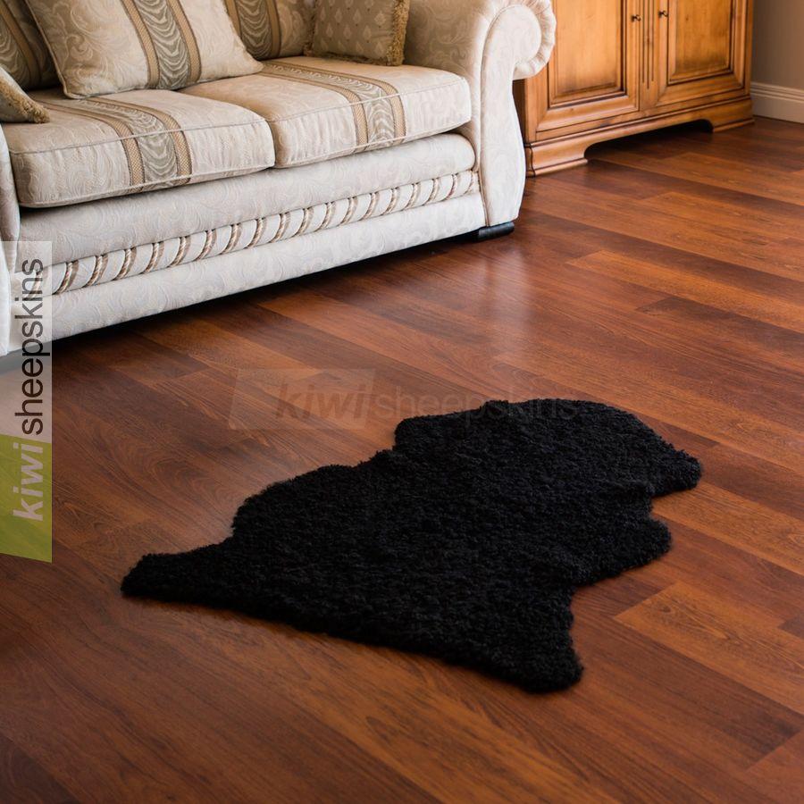 Curly wool single pelt - Black color