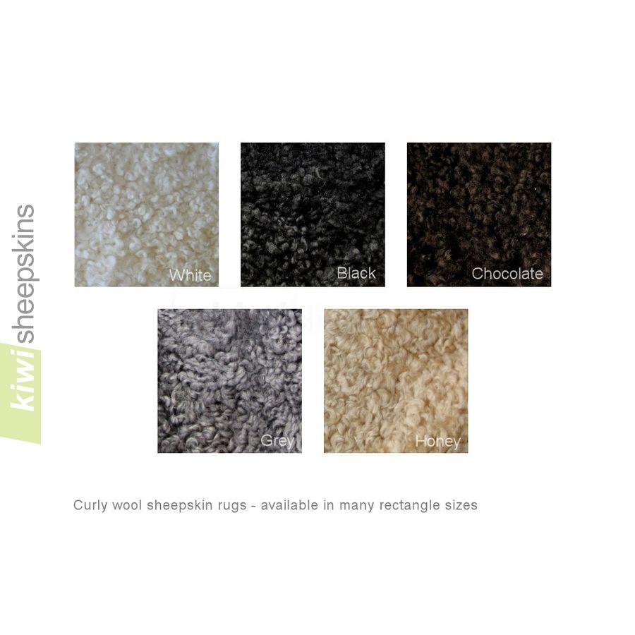 Curly wool sheepskin colors