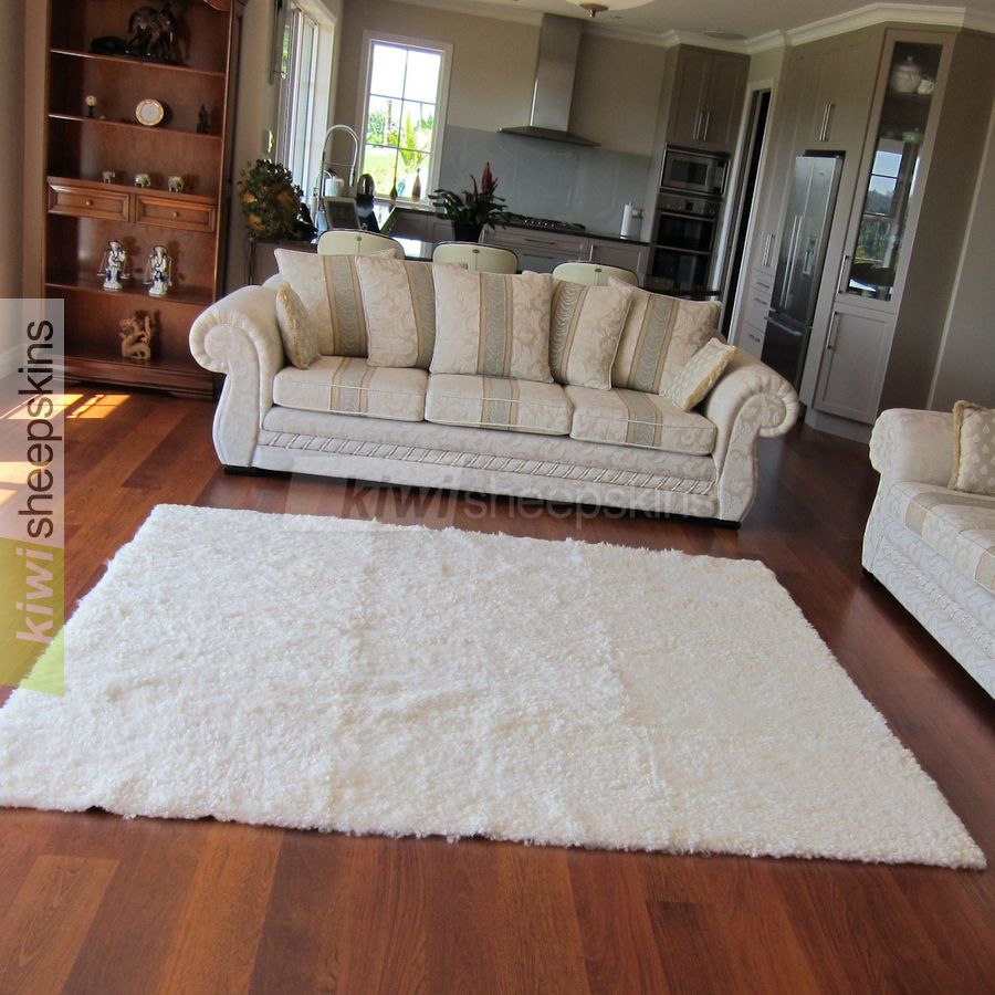 rectangle curly wool sheepskin rug