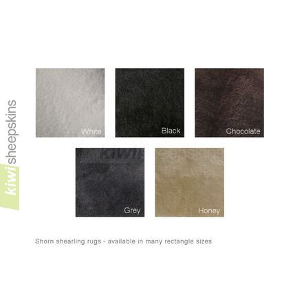 Short wool sheepskin rug colors