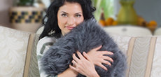 Sheepskin pillows, pet rugs and other lambskin accessories